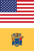 new jersey state flag, american flag